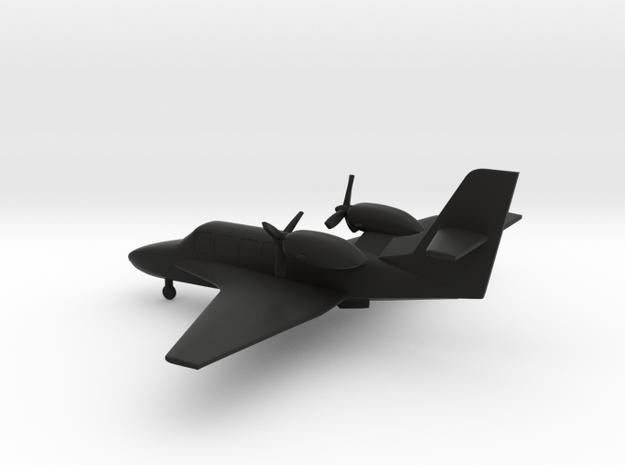 Beriev Be-103 Bekas  in Black Natural Versatile Plastic: 1:160 - N