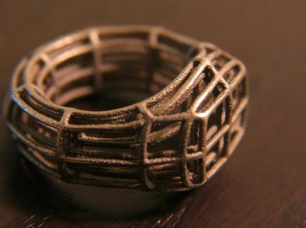 Wire Signet 3d printed Stainless Steel