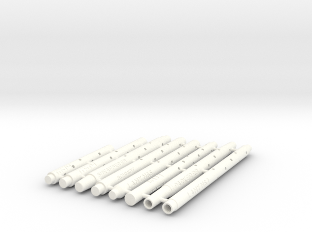 Adapters: Multiple Rollerball To D1 Mini in White Processed Versatile Plastic