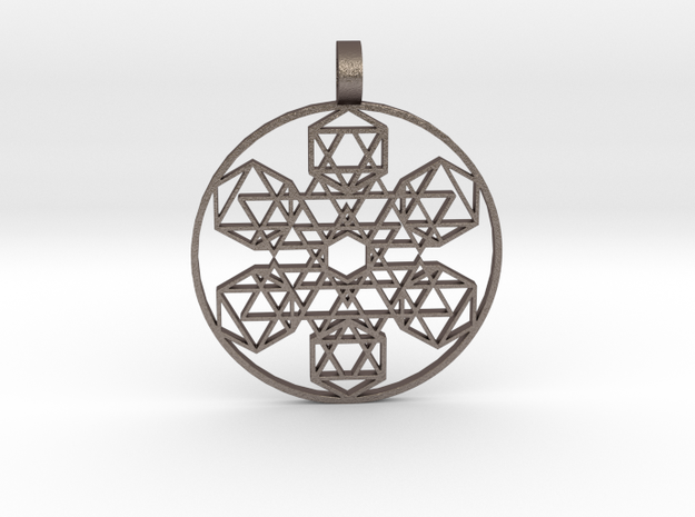 Etheric Reflector (Flat) in Polished Bronzed Silver Steel