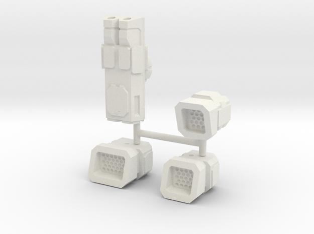 6mm Weapon Sprue D in White Natural Versatile Plastic