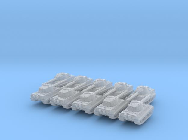 1/600 German E75 Heavy Tank x10 in Smoothest Fine Detail Plastic