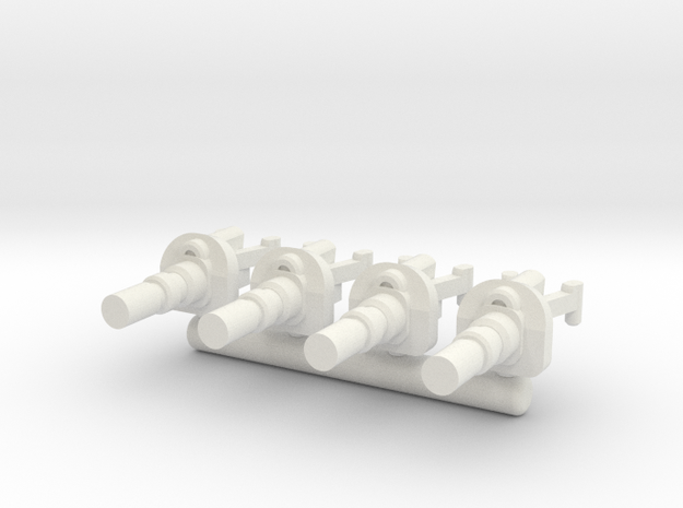 6mm Weapon Sprue E in White Strong & Flexible