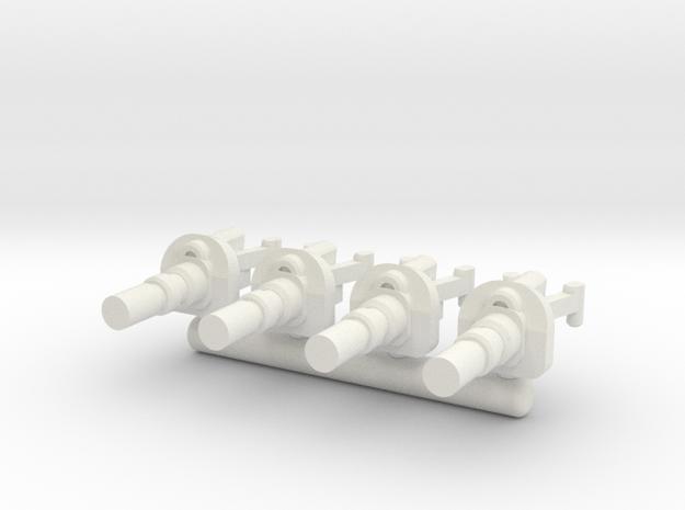 6mm Weapon Sprue E in White Natural Versatile Plastic