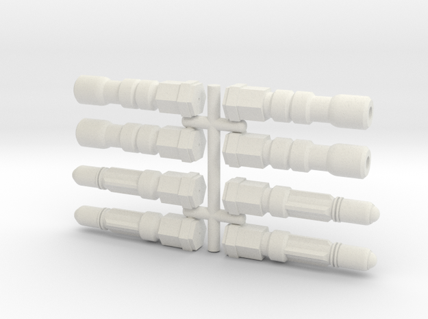 6mm Weapon Sprue F in White Strong & Flexible