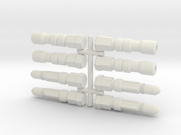 6mm Weapon Sprue F in White Natural Versatile Plastic