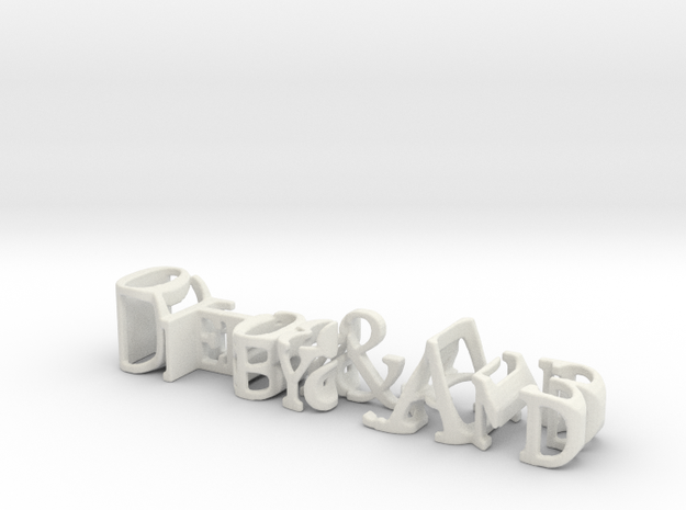 3dWordFlip: Debby&And/01-08-2013 in White Natural Versatile Plastic