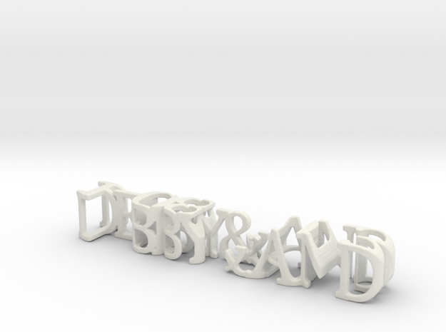 3dWordFlip: DEBBY&AND/1-08-2013 in White Natural Versatile Plastic