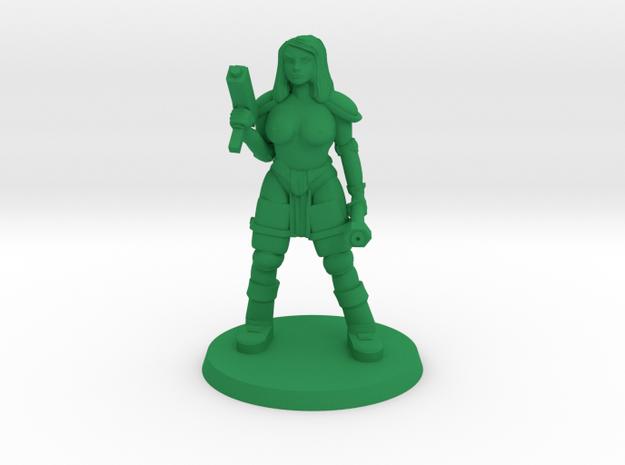 Raider Bree NSFW in Green Processed Versatile Plastic