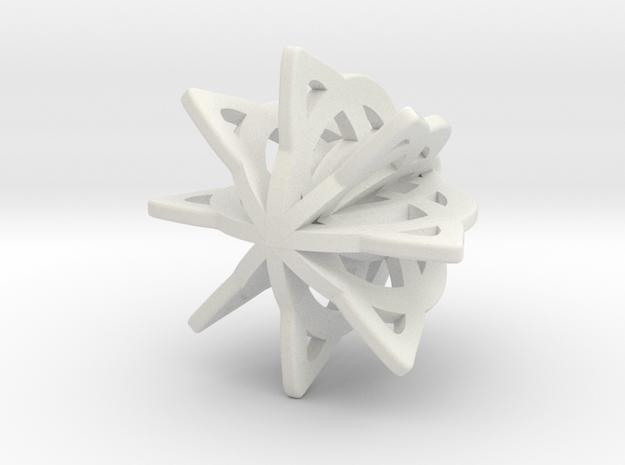 Celtic Earrings _V1 in White Natural Versatile Plastic