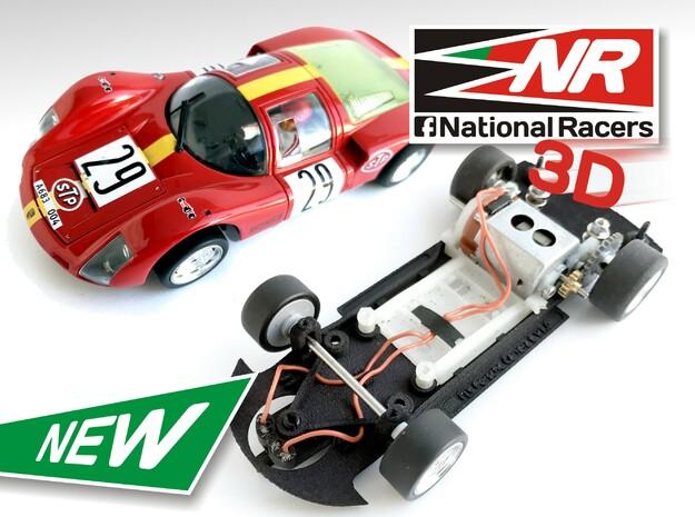 3D Chassis - Fly Porsche Carrera 6 (SW/Inline) in Black Natural Versatile Plastic