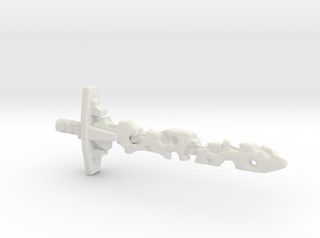 Corrupt Laser Sword (5mm and 3mm grips) in White Natural Versatile Plastic: Medium
