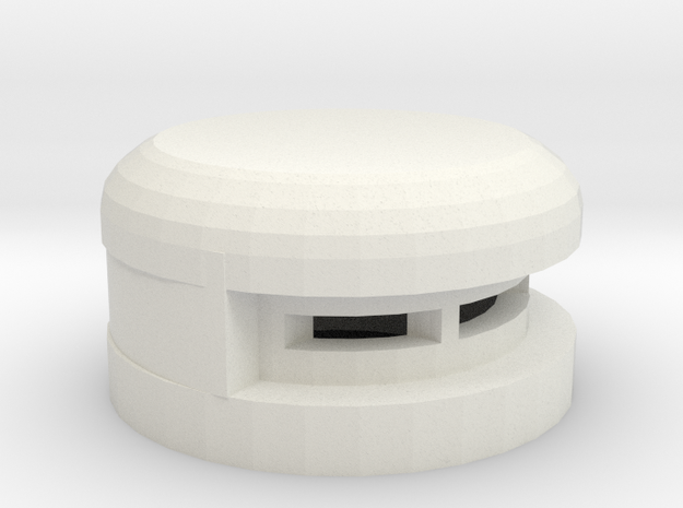 15 mm Round Bunker in White Natural Versatile Plastic