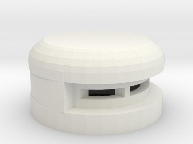 15 mm Round Bunker in White Natural Versatile Plastic