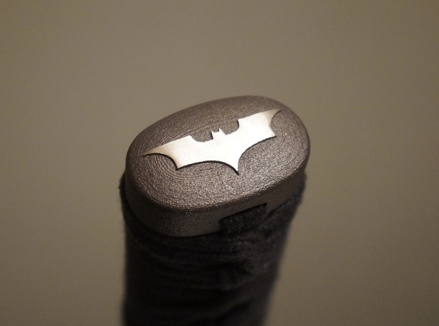 Batman Kashira in Matte Black Steel