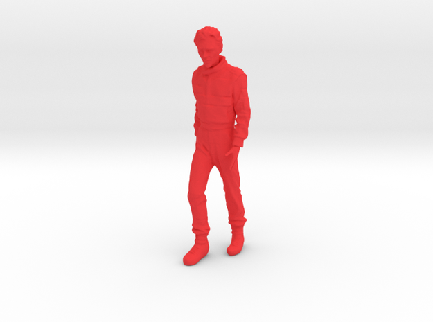 1/20 F1 Champion Senna Walking in Red Processed Versatile Plastic