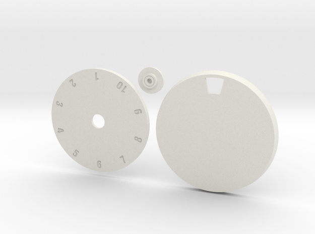 40mm Round Wound Tracking Base in White Natural Versatile Plastic