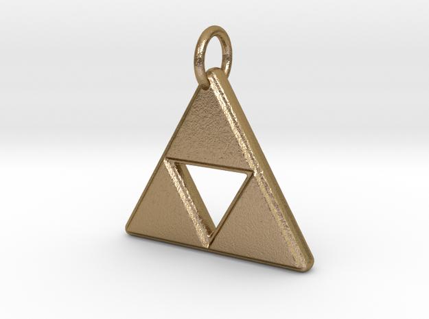 The Legend of Zelda - Triforce (Pendant) in Polished Gold Steel