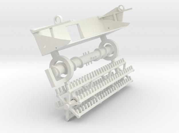 F15 vintage finger reel platform in White Natural Versatile Plastic