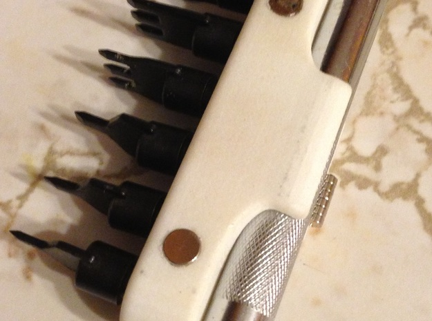 "Leather Tool Holders - Lacing Chisel Set 3d printed 2 .25"" Diameter magnets required"