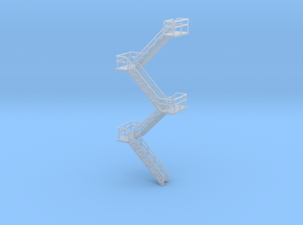 N Scale Staircase H80mm 5 flights in Smooth Fine Detail Plastic