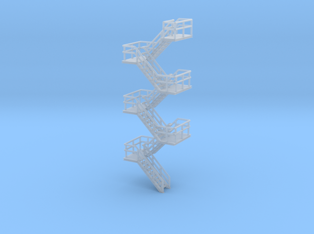 N Scale Staircase H68.8mm in Smooth Fine Detail Plastic