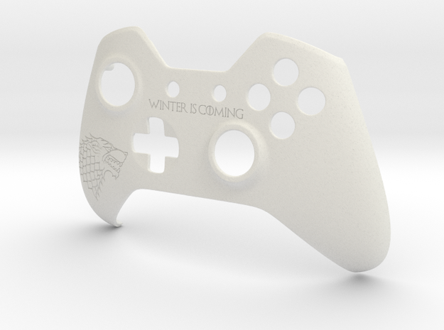 "Xbox One ""Winter is Coming"" Controller Faceplate in White Natural Versatile Plastic"