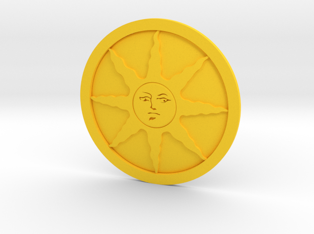 Sunlight Medal in Yellow Strong & Flexible Polished