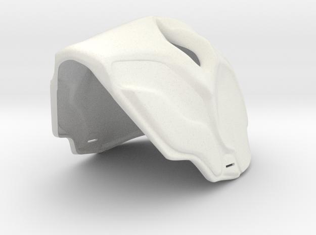 Deathstroke Mask in White Natural Versatile Plastic