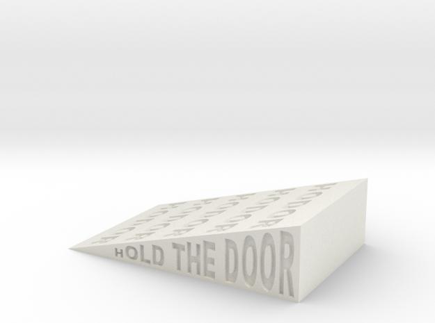 Hodor Wedge in White Natural Versatile Plastic