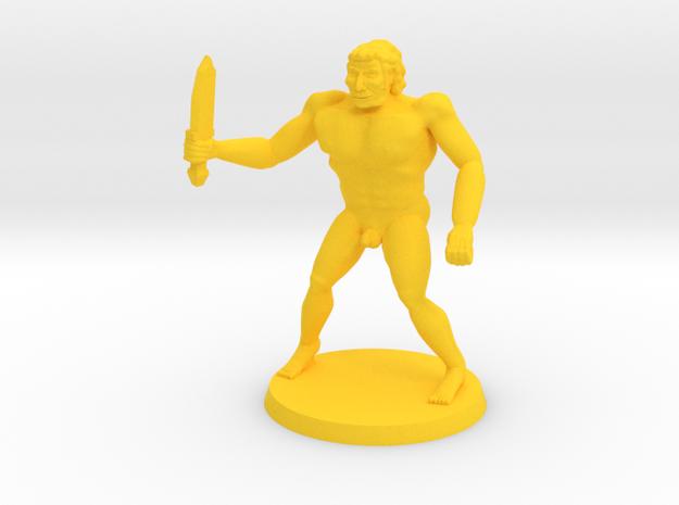 NSFW Drokk Doll in Yellow Processed Versatile Plastic