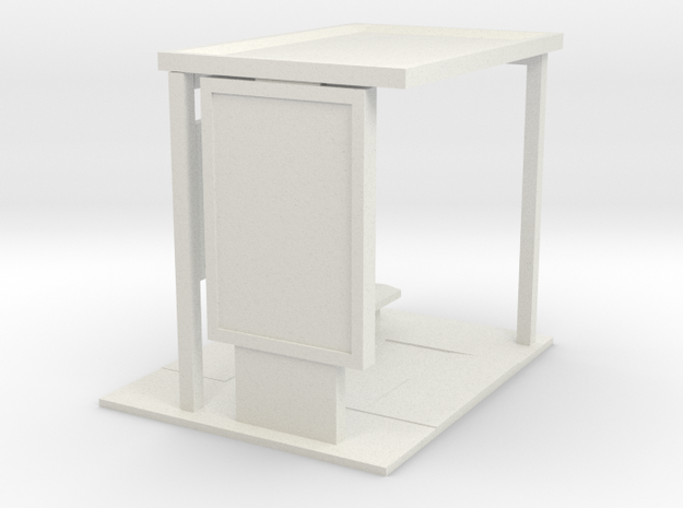 28mm Bus Shelter base for modern era/ near future  in White Natural Versatile Plastic