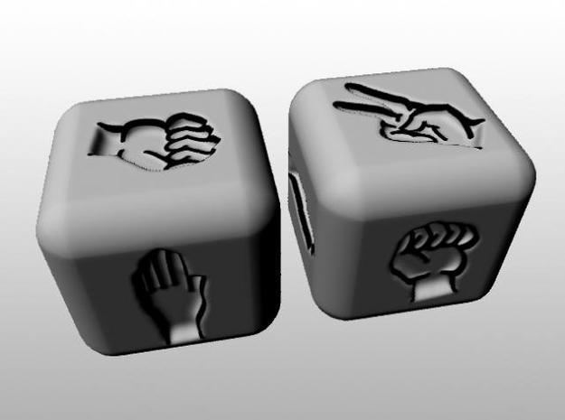 Rock Paper Scissors Dice 3d printed Description