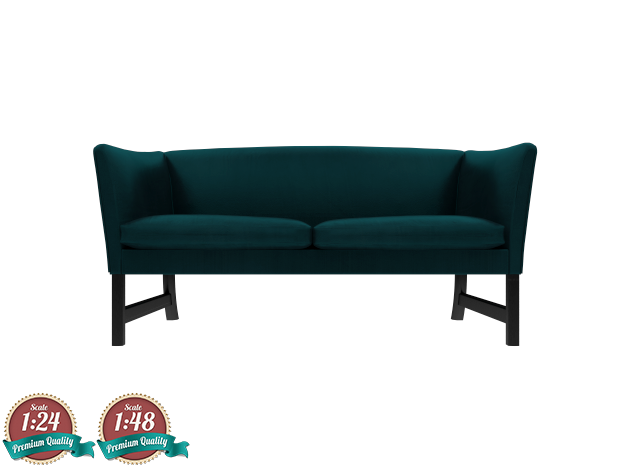 Miniature OW603 Sofa - Ole Wanscher in White Strong & Flexible: 1:24