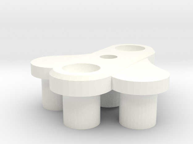 [prototype] Dobby Drone 3-blade center hub in White Strong & Flexible Polished