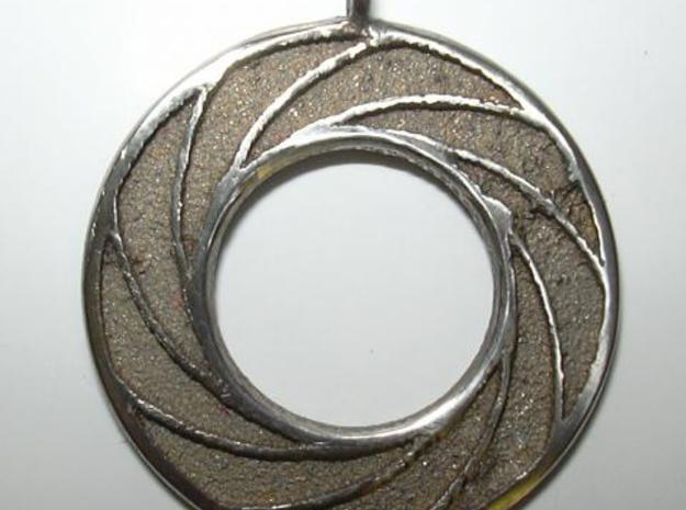 Swirl Pendant 3d printed Polished photo