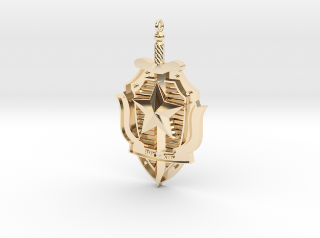 KGB Pendant in 14k Gold Plated