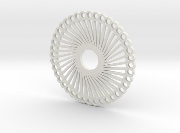 "Fidget Spinner ""40 Arms"" in White Natural Versatile Plastic"