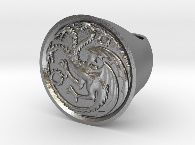 Ring of house targaryen - game of thrones in Raw Silver