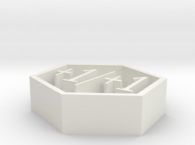 Magic +1/+1 counter in White Natural Versatile Plastic