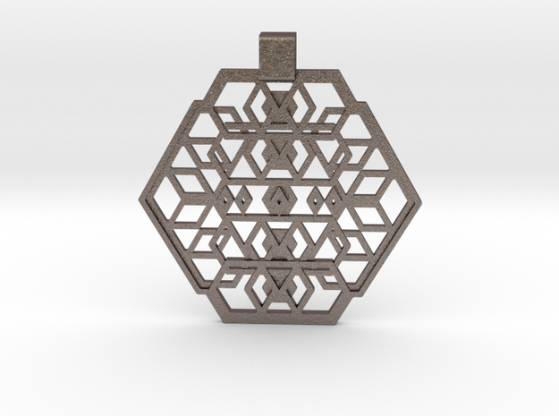 Seal Of Individuality (Flat) in Polished Bronzed Silver Steel