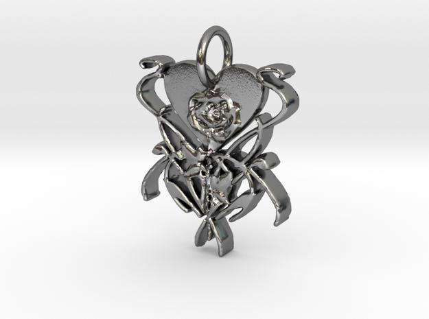 Jackie Custom Pendant in Polished Silver
