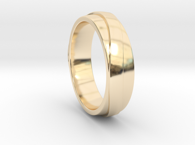 Simple Unique Merging Ring in 14K Gold: 7 / 54