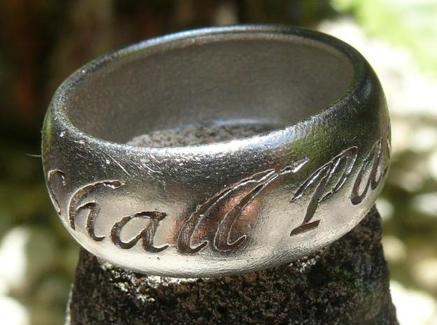 This Too Shall Pass, custom ring size 3d printed Silver 1