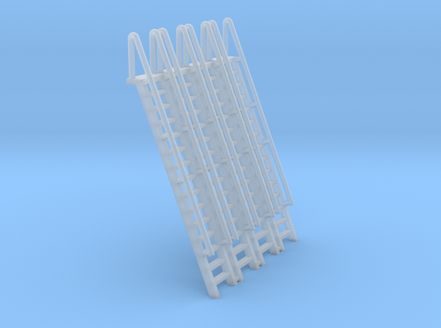 N Scale Ladder 15 (4pc) in Smooth Fine Detail Plastic