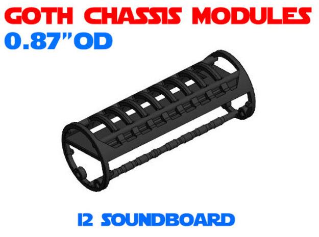 GCM087 - I2 / Spark2 soundboard chassis in White Natural Versatile Plastic