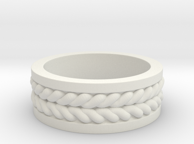 Twisted Ring in White Strong & Flexible