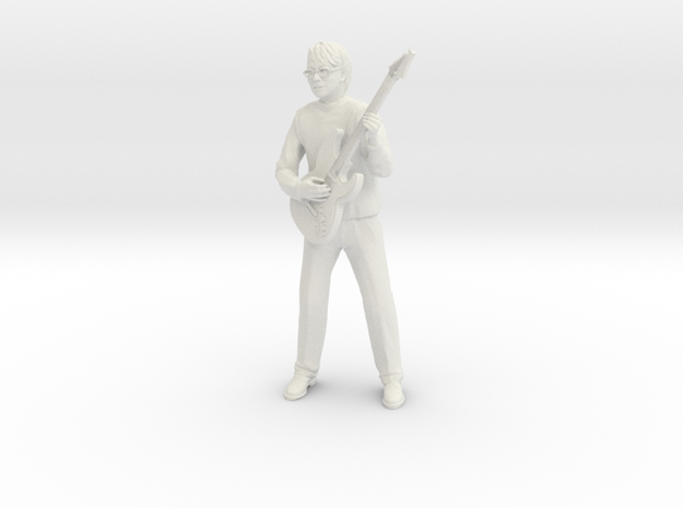 Guitar player with glasses in White Strong & Flexible