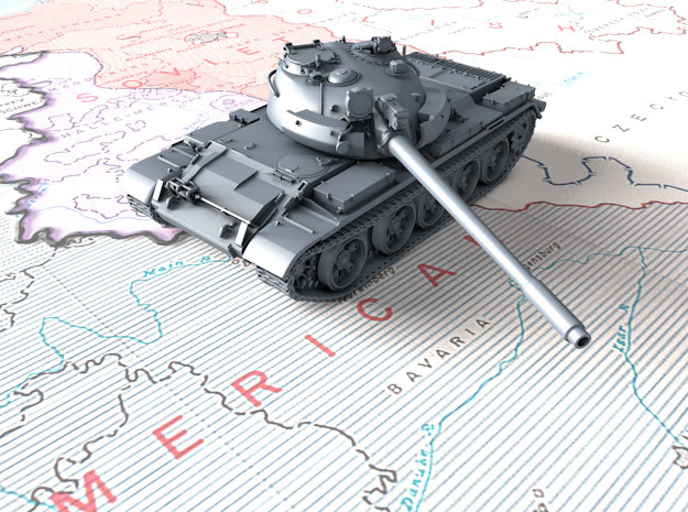 1/72 Russian T-55M1 Main Battle Tank in Smooth Fine Detail Plastic