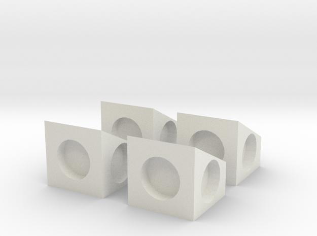 MPConnector - 90 degree Block 4 in White Natural Versatile Plastic